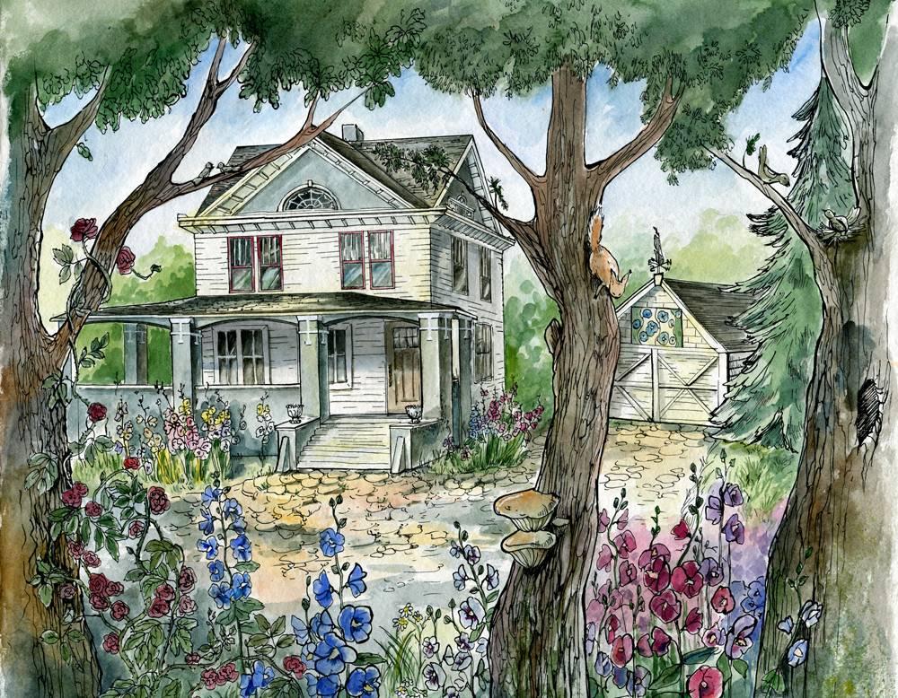 Nina's Illustration of Hollyhock House