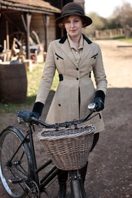 Edith with Bike