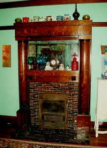 This is my fireplace, an upgrade from the standard offered in the Sears catalog of Sears House Kits from whence it came.