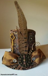 steampunk clock hat love idea of large bow in front